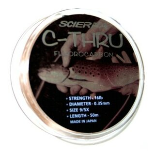 Scierra C-Thru Fluorocarbon 0,45 mm, 25 m Spule