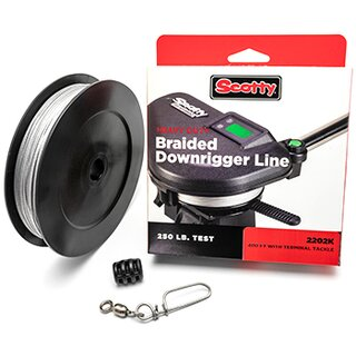 Scotty Heavy Duty Braided Downrigger Line 250 lb
